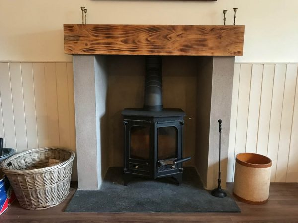 wood burning stove in the bothy cottage