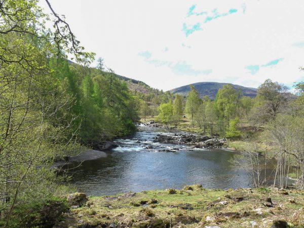View from Gatehouse Window - salmon fishing Glenlyon Perthshire