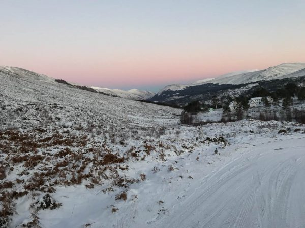 Deer stalking in Perthshire Scotland in Winter